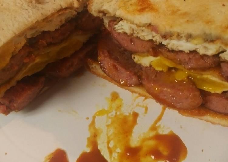 Smoked Sausage and Egg Sandwich