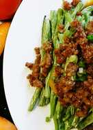 resep masakan chinese style green beans with ground pork