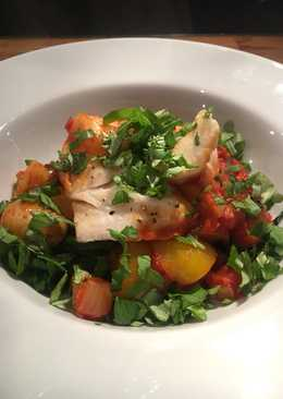 Cod, chorizo and potato