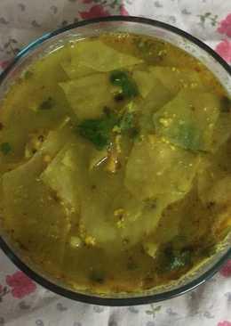 Papad ki sabji with spinach
