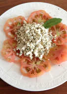Bull's heart tomato with Feta cheese Turkish style
