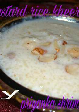Custard rice kheer