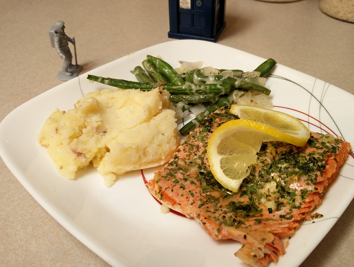 Meyer Lemon Garlic Salmon