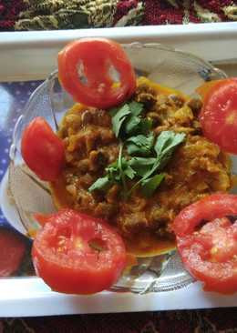 Masala chole(kale) with dahi