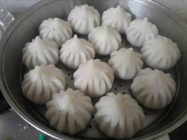 Indian dessert (steam modak)