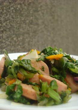 Paleo: Sausage Spinach Stir Fry