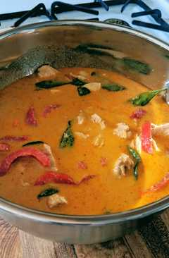 resep masakan thai red curry with snow peas