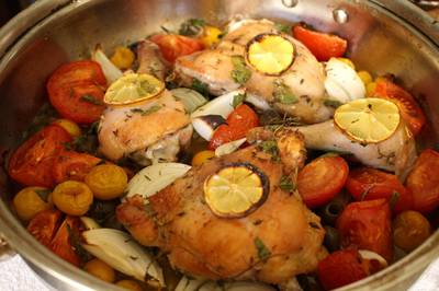 Super Easy Provençal Inspired Roast Chicken