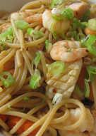 Seafood Spaghetti Garlic Soy Sauce