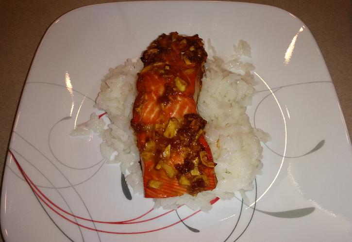 Ginger Salmon with Jasmine Rice