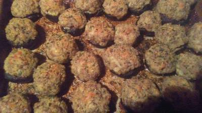 Garlic and Herb Stuffed Portabella Mushrooms