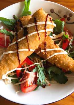 Crumbed fish salad