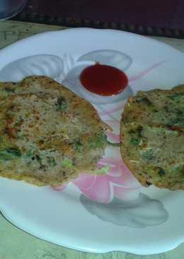 Oats and flax seeds pancake
