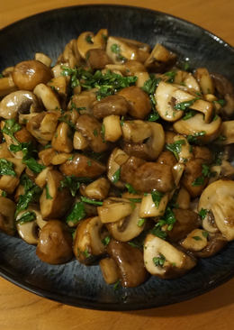 Mushrooms in oyster sauce