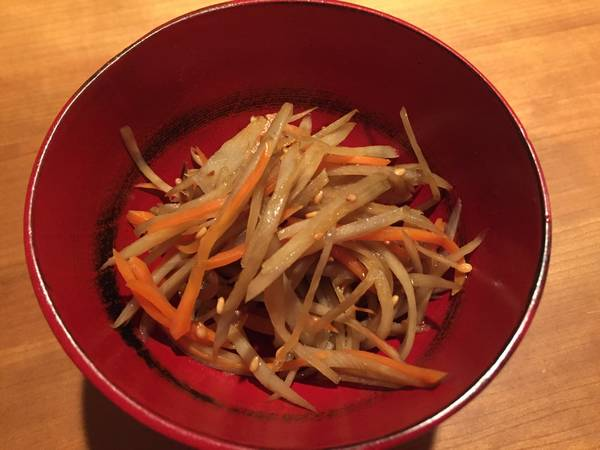 Very easy and simple Kinpira Gobo (Burdock) & Carrot, Gluten Free