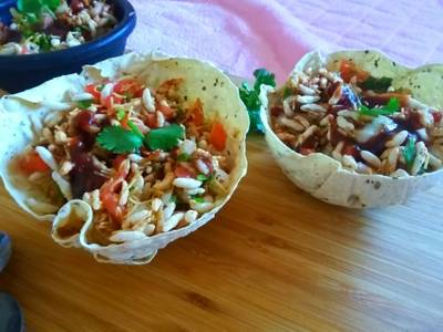 Papad Bowl Bhel