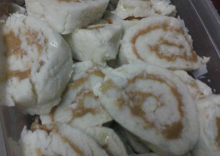 Tater candy (aka Irish potato candy or peanut butter pinwheels)