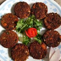 Sprouted ragi chicken cutlet