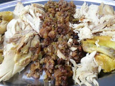 Festive turkey stuffing