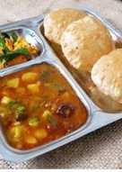 Puri and Aloo tomato curry