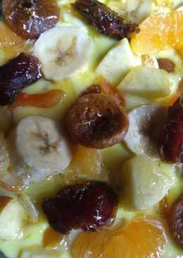 Mix fruit pudding