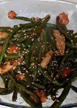 Dry Fry Green Beans