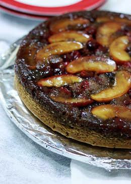 Apple Cranberry upside down cake