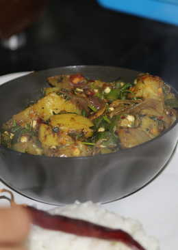 Aloo Bhindi-quick and easy (Potatoes & Ladies Finger in North Indian style)