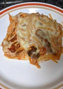 Leftover Baked Spaghetti