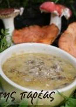 Mushroom soup from Grevena