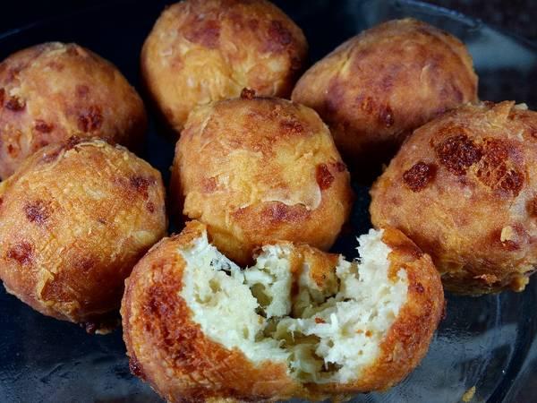 Homemade crispy chicken parm & mozzarella cheese balls