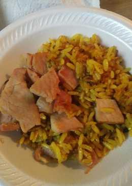 Ham Parched Rice