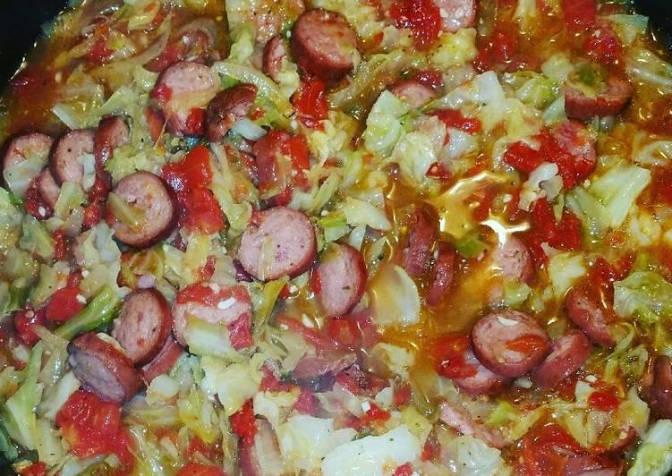 Smoked Sausage & Cabbage