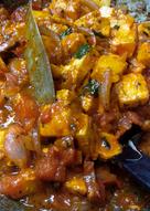 Saucy spicy paneer