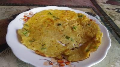 Semolina and gram flour cheela