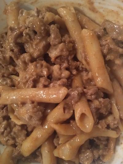 Healthy (but doesn't taste healthy) Taco Pasta