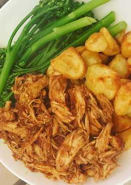 Matt's slow cooked BBQ pulled chicken