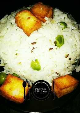 Mutter paneer jeera rice