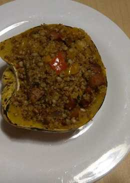 Stuffed Sweet Dumpling Squash with Sausage