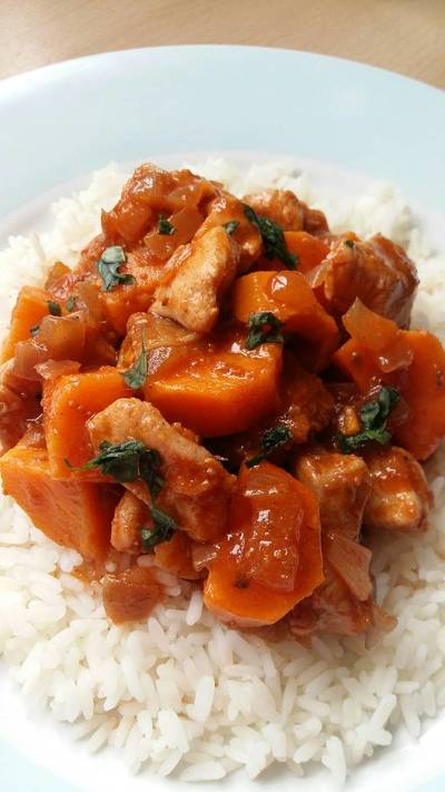 Vickys Chicken, Sweet Potato & Fig Tagine, GF DF EF SF NF