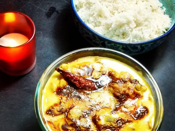 Punjabi Pakora Curry with Boiled rice #Dussehra post 6