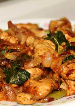 Basil chicken- quick and yum