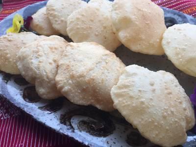 Bangladesh easy fried bread Luti