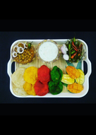 Choley with Colourful Poorie and Cucumber Raita