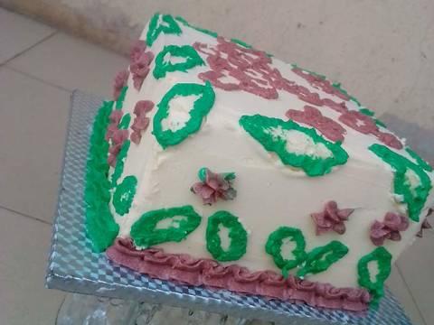 Vanilla Chocolate Marble Christmas Themed Cake Recipe Step 11 Photo