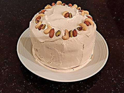 Spice Layer Cake With Whipped Cream Apple Butter Frosting Filling
