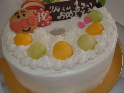 Chiffon cake decoration recipe by cookpad for Anpanman cake decoration