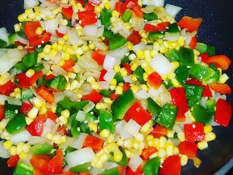Add in frozen corn and cook an additional 2 minutes.