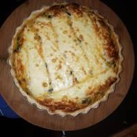 Tarta de puerro y cebolla