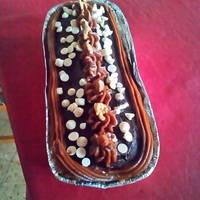 Cake de canela, frutos secos y semillas de sésamo negro